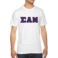 Sigma Alpha Mu American Apparel Jersey Tee with Twill - American Apparel 2001W - TWILL