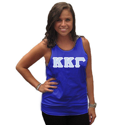 Kappa Kappa Gamma Sorority Unisex Tank Top with Twill - Next Level 3633 - TWILL