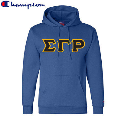 Sigma Gamma Rho Champion Hooded Sweatshirt - Champion S700 - TWILL