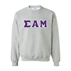 Sigma Alpha Mu Fraternity Standards Crewneck Sweatshirt - Gildan 18000 - Twill