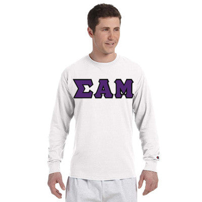 Sigma Alpha Mu Champion Long-Sleeve Tee - Champion CC8C - TWILL