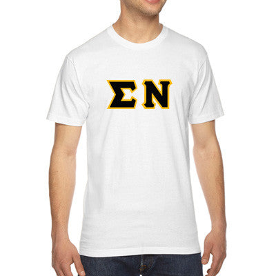Sigma Nu American Apparel Jersey Tee with Twill - American Apparel 2001W - TWILL
