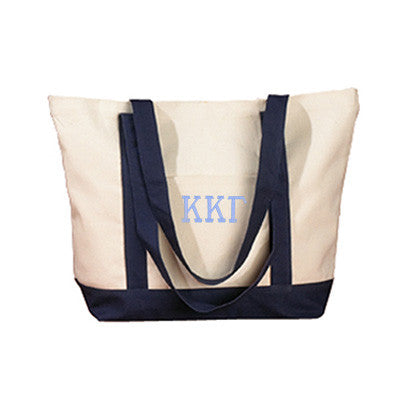 Kappa Kappa Gamma Sorority Embroidered Boat Tote - Bag Edge BE004 - EMB