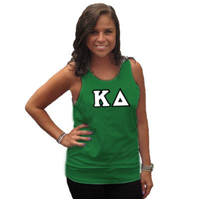 Kappa Delta Sorority Unisex Tank Top with Twill - Next Level 3633 - TWILL
