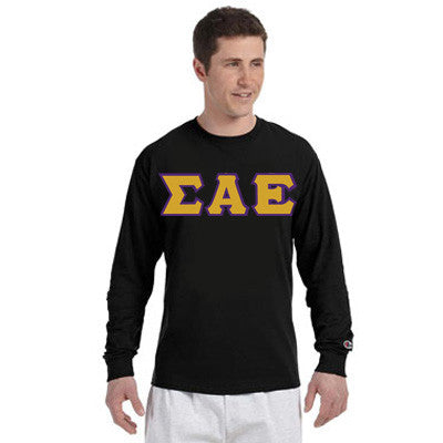 Sigma Alpha Epsilon Champion Long-Sleeve Tee - Champion CC8C - TWILL