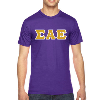 Sigma Alpha Epsilon American Apparel Jersey Tee with Twill - American Apparel 2001W - TWILL
