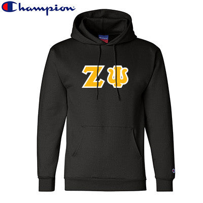 Zeta Psi Champion Hooded Sweatshirt - Champion S700 - TWILL