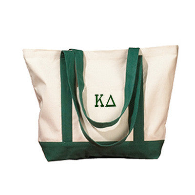Kappa Delta Sorority Embroidered Boat Tote - Bag Edge BE004 - EMB