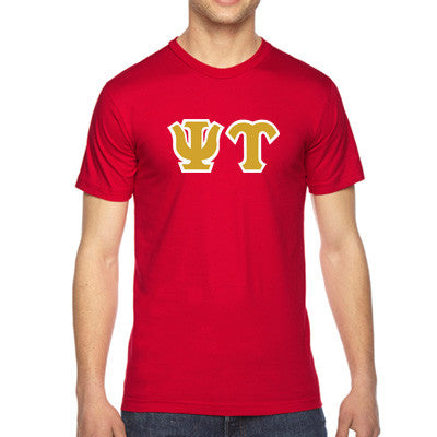 Psi Upsilon American Apparel Jersey Tee with Twill - American Apparel 2001W - TWILL