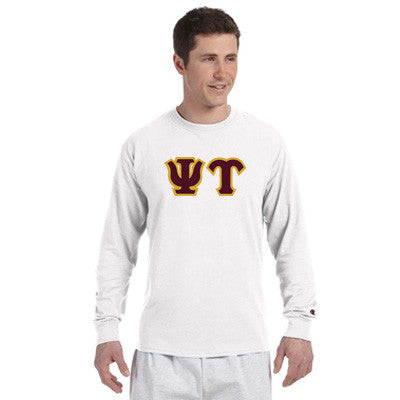 Psi Upsilon Champion Long-Sleeve Tee - Champion CC8C - TWILL