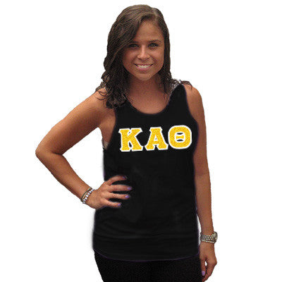 Kappa Alpha Theta Sorority Unisex Tank Top with Twill - Next Level 3633 - TWILL