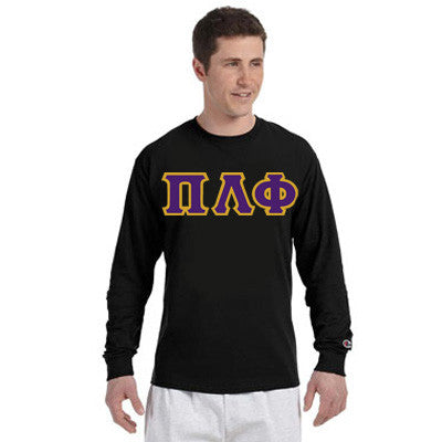 Pi Lambda Phi Champion Long-Sleeve Tee - Champion CC8C - TWILL
