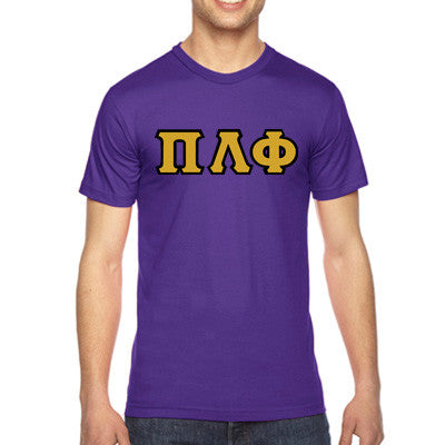 Pi Lambda Phi American Apparel Jersey Tee with Twill - American Apparel 2001 - TWILL