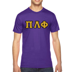 Pi Lambda Phi American Apparel Jersey Tee with Twill - American Apparel 2001W - TWILL
