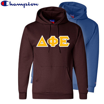 Delta Phi Epsilon 2 Champion Hoodies Pack - Champion S700 - TWILL