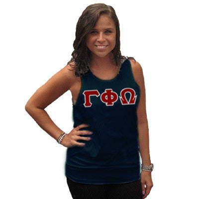 Gamma Phi Omega Sorority Unisex Tank Top with Twill - Next Level 3633 - TWILL