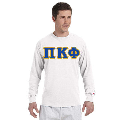 Pi Kappa Phi Champion Long-Sleeve Tee - Champion CC8C - TWILL