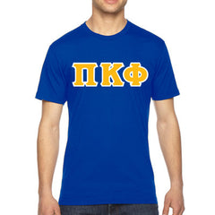 Pi Kappa Phi American Apparel Jersey Tee with Twill - American Apparel 2001W - TWILL