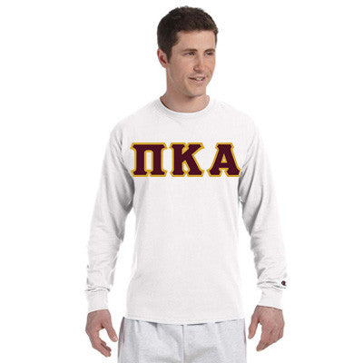 Pi Kappa Alpha Champion Long-Sleeve Tee - Champion CC8C - TWILL