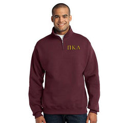 Pi Kappa Alpha Fraternity Embroidered Quarter-Zip Pullover - Jerzees 995M - EMB