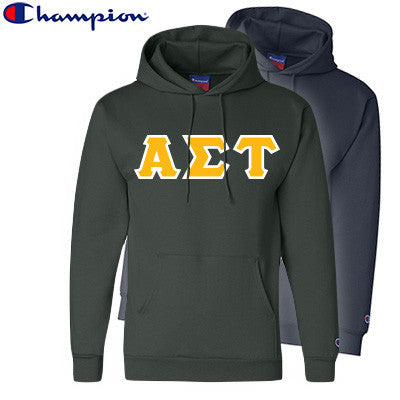 Alpha Sigma Tau 2 Champion Hoodies Pack - Champion S700 - TWILL