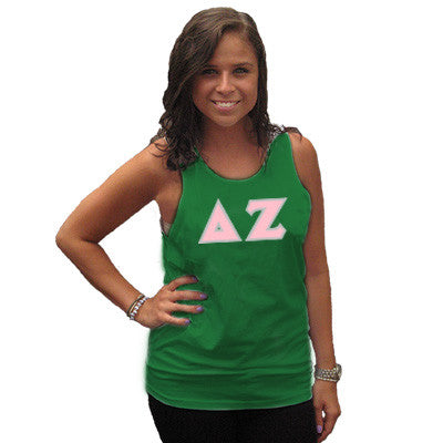 Delta Zeta Sorority Unisex Tank Top with Twill - Next Level 3633 - TWILL