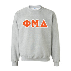 Phi Mu Delta Fraternity Standards Crewneck Sweatshirt - Gildan 18000 - Twill