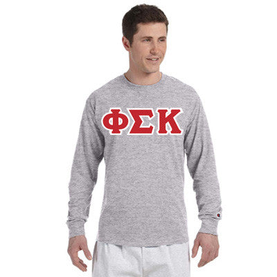 Phi Sigma Kappa Champion Long-Sleeve Tee - Champion CC8C - TWILL
