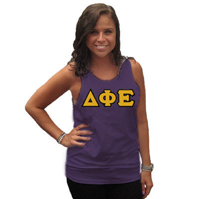 Delta Phi Epsilon Sorority Unisex Tank Top with Twill - Next Level 3633 - TWILL