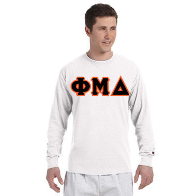 Phi Mu Delta Champion Long-Sleeve Tee - Champion CC8C - TWILL