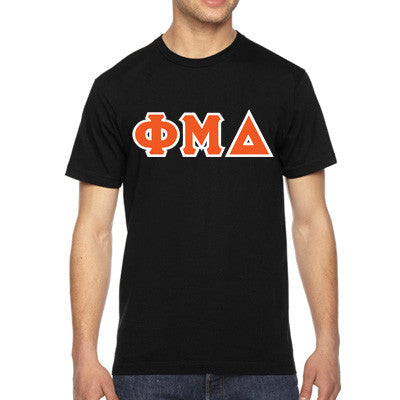 Phi Mu Delta American Apparel Jersey Tee with Twill - American Apparel 2001W - TWILL