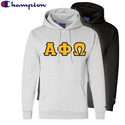 Alpha Phi Omega 2 Champion Hoodies Pack - Champion S700 - TWILL