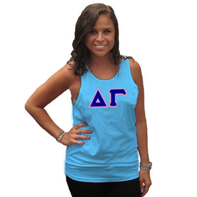 Delta Gamma Sorority Unisex Tank Top with Twill - Next Level 3633 - TWILL