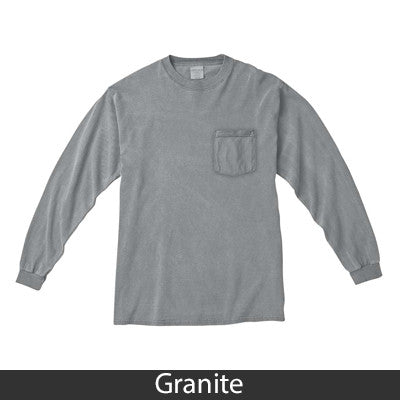 Comfort Colors Custom Printed Fraternity Long-Sleeve T-Shirt with Pocket - 4410 - DIG