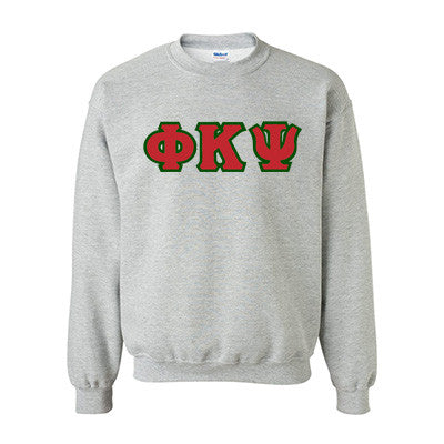 Phi Kappa Psi Fraternity Standards Crewneck Sweatshirt - Gildan 18000 - Twill
