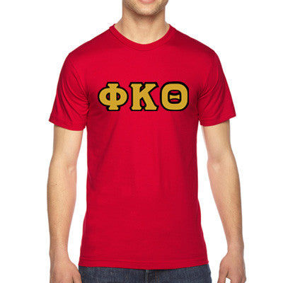 Phi Kappa Theta American Apparel Jersey Tee with Twill - American Apparel 2001 - TWILL