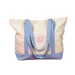 Delta Gamma Sorority Embroidered Boat Tote - Bag Edge BE004 - EMB