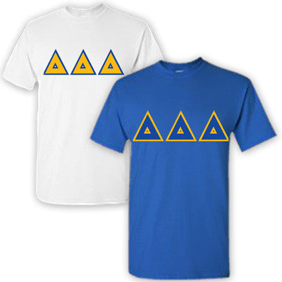 Delta Delta Delta Sorority 2 T-Shirt Pack - G500 - TWILL