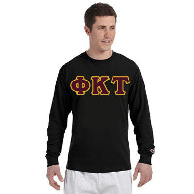 Phi Kappa Tau Champion Long-Sleeve Tee - Champion CC8C - TWILL