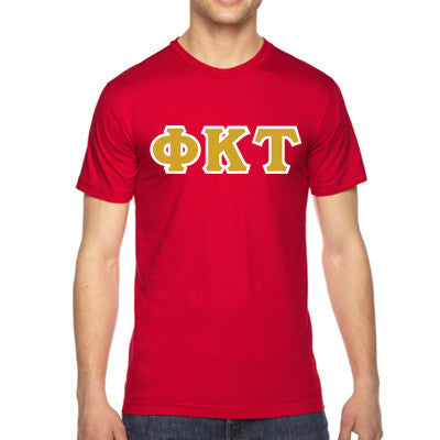 Phi Kappa Tau American Apparel Jersey Tee with Twill - American Apparel 2001 - TWILL