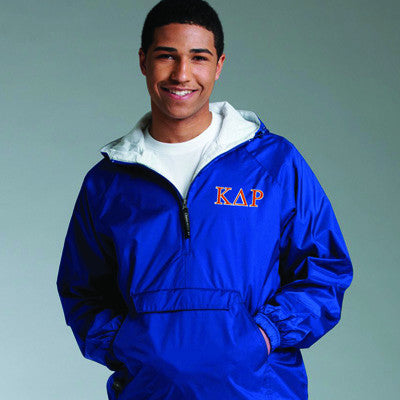 Fraternity Pullover Jacket with 2-Color Embroidery - Charles River 9905 - EMB