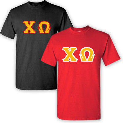 Chi Omega Sorority 2 T-Shirt Pack - G500 - TWILL