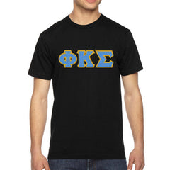 Phi Kappa Sigma American Apparel Jersey Tee with Twill - American Apparel 2001W - TWILL