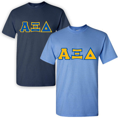 Alpha Xi Delta Sorority 2 T-Shirt Pack - G500 - TWILL