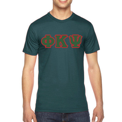 Phi Kappa Psi American Apparel Jersey Tee with Twill - American Apparel 2001W - TWILL