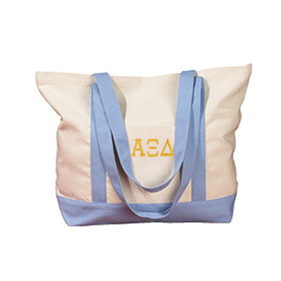 Alpha Xi Delta Sorority Embroidered Boat Tote - Bag Edge BE004 - EMB
