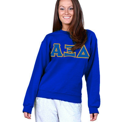 Alpha Xi Delta Sorority 8oz Crewneck Sweatshirt - Gildan 18000 - TWILL