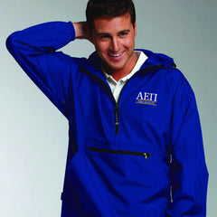 Fraternity Pullover Jacket with Embroidery Bar Design - Charles River 9905 - EMB