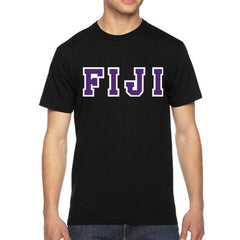 FIJI American Apparel Jersey Tee with Twill - American Apparel 2001W - TWILL