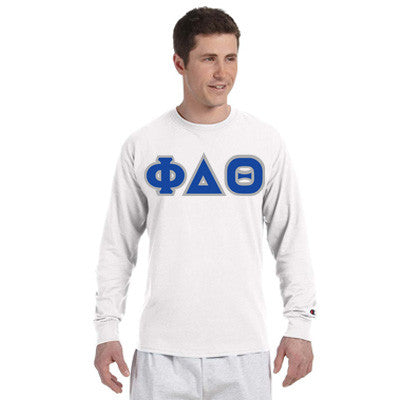 Phi Delta Theta Champion Long-Sleeve Tee - Champion CC8C - TWILL